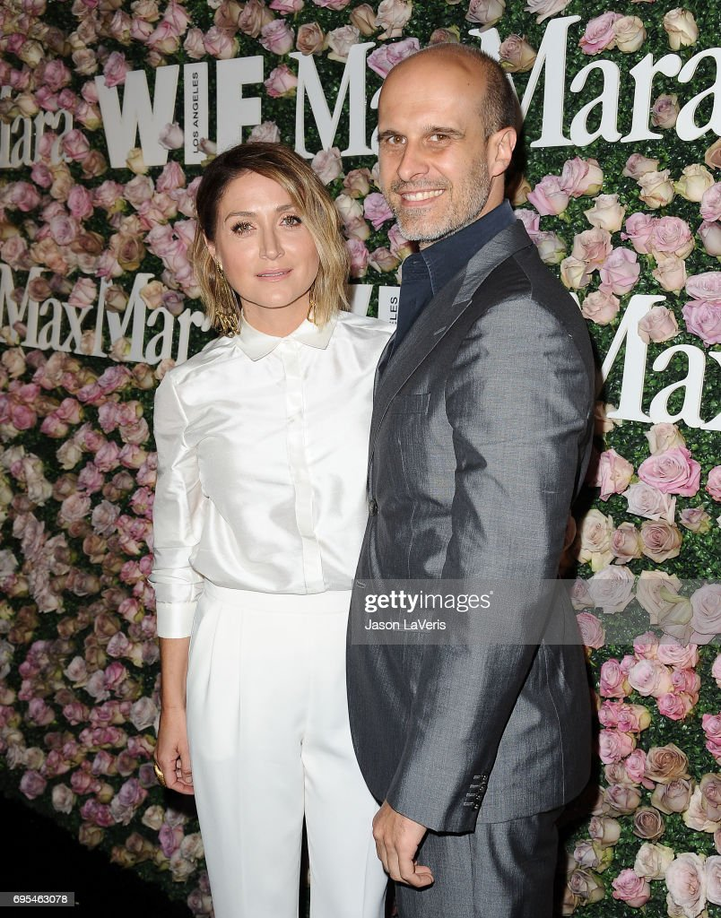 Actress Sasha Alexander and husband Edoardo Ponti attend Max Mara and Vanity Fair's celebration of Women In Film's Face of the Future Award recipient, Zoey Deutch at Chateau Marmont on June 12, 2017 in Los Angeles, California.