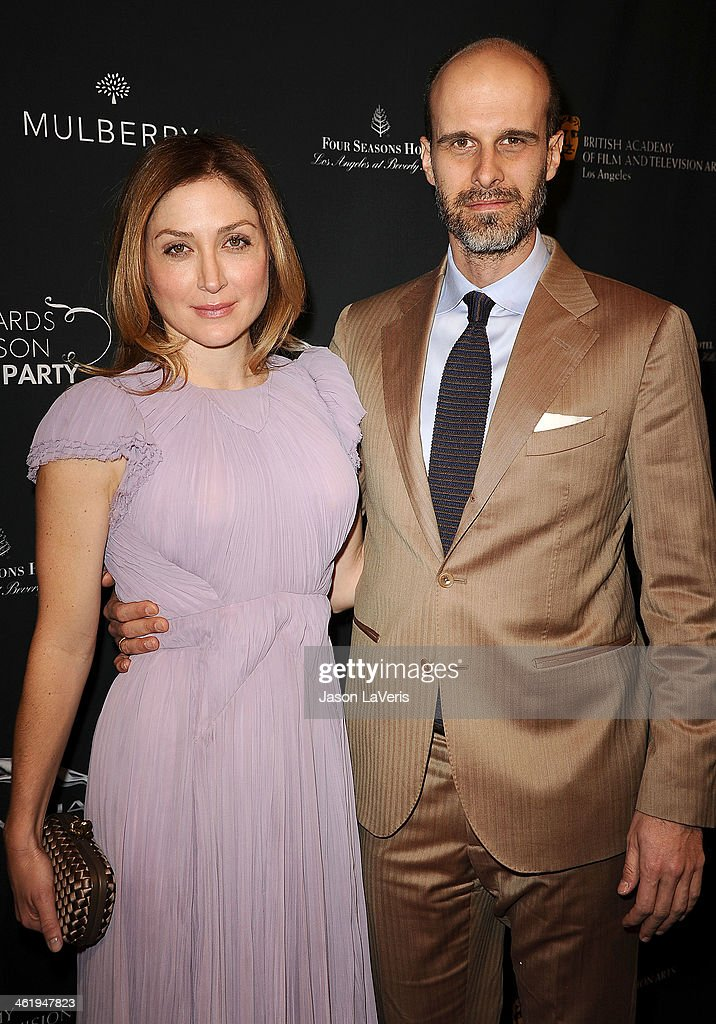 Actress Sasha Alexander and husband Edoardo Ponti attend the BAFTA LA 2014 awards season tea party at Four Seasons Hotel Los Angeles at Beverly Hills on January 11, 2014 in Beverly Hills, California.