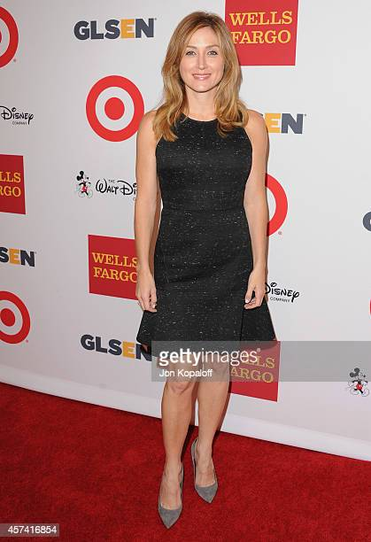 Actress Sasha Alexander arrives at the 10th Annual GLSEN Respect Awards at Regent Beverly Wilshire Hotel on October 17 2014 in Beverly Hills...