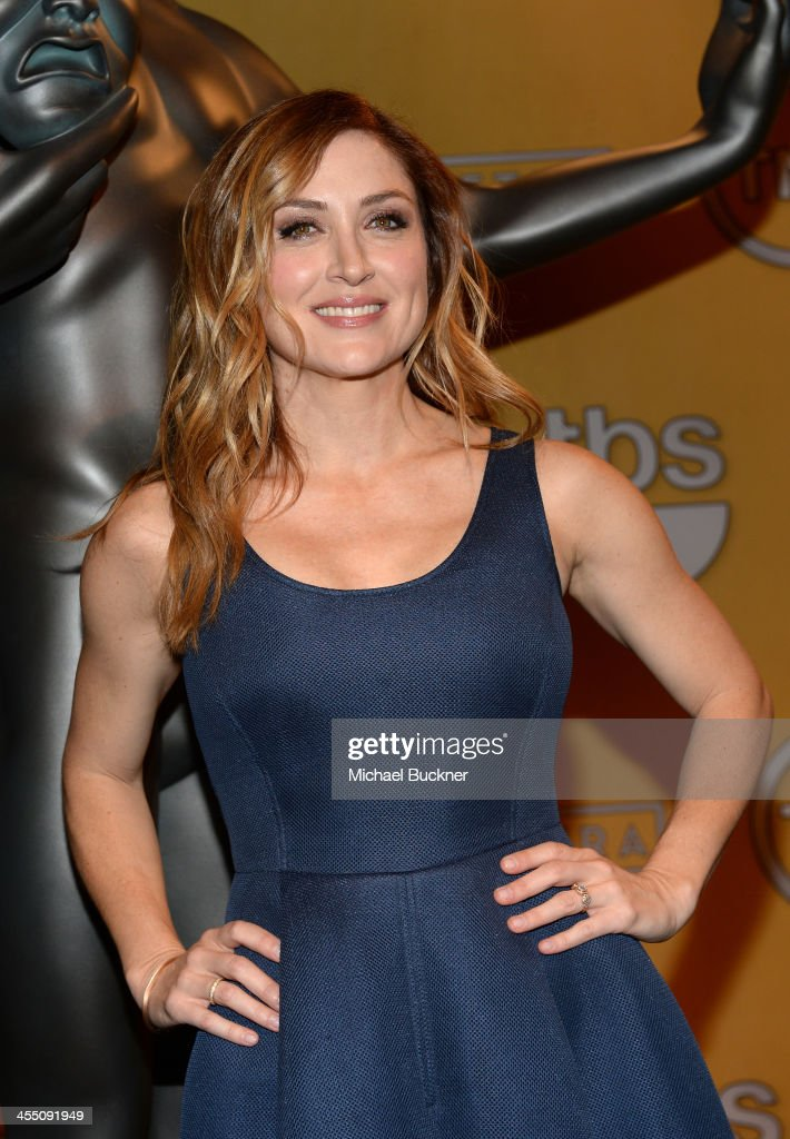 Actress <a gi-track='captionPersonalityLinkClicked' href=/galleries/search?phrase=Sasha+Alexander&family=editorial&specificpeople=215373 ng-click='$event.stopPropagation()'>Sasha Alexander</a> attends the 20th Annual Screen Actors Guild Awards Nominations Announcement at Pacific Design Center on December 11, 2013 in West Hollywood, California. 24092_002_0047.JPG