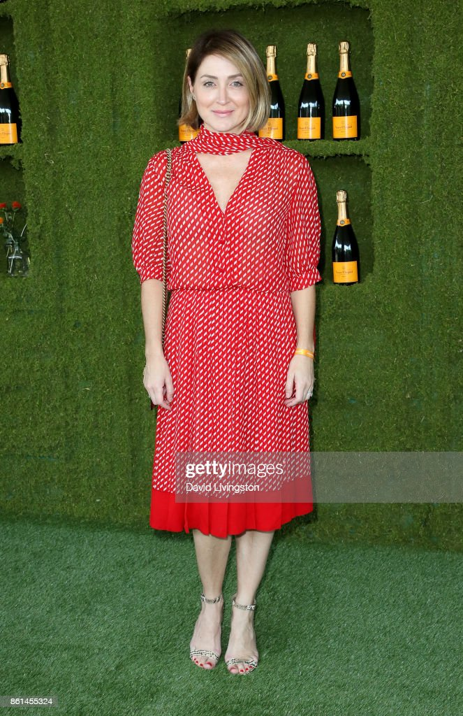 Actress Sasha Alexander attends the 8th Annual Veuve Clicquot Polo Classic at Will Rogers State Historic Park on October 14, 2017 in Pacific Palisades, California.