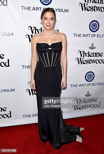 Actress Sasha Alexander attends The Art of Elysium 2016 HEAVEN Gala presented by Vivienne Westwood Andreas Kronthaler at 3LABS on January 9 2016 in...
