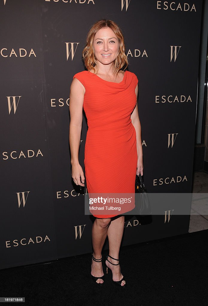 Actress <a gi-track='captionPersonalityLinkClicked' href=/galleries/search?phrase=Sasha+Alexander&family=editorial&specificpeople=215373 ng-click='$event.stopPropagation()'>Sasha Alexander</a> attends the 'Celebrate Cool Earth' benefit for the Cool Earth Foundation at Escada Boutique on September 26, 2013 in Beverly Hills, California.