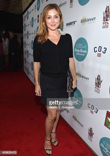 Actress Sasha Alexander attends the Hollyshorts 10th Anniversary Opening Night at The TCL Chinese Theatres on August 14 2014 in Hollywood California