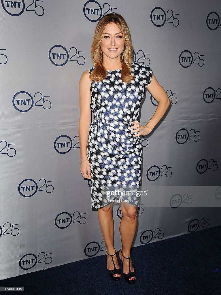 Actress Sasha Alexander attends TNT's 25th anniversary party at The Beverly Hilton Hotel on July 24, 2013 in Beverly Hills, California.