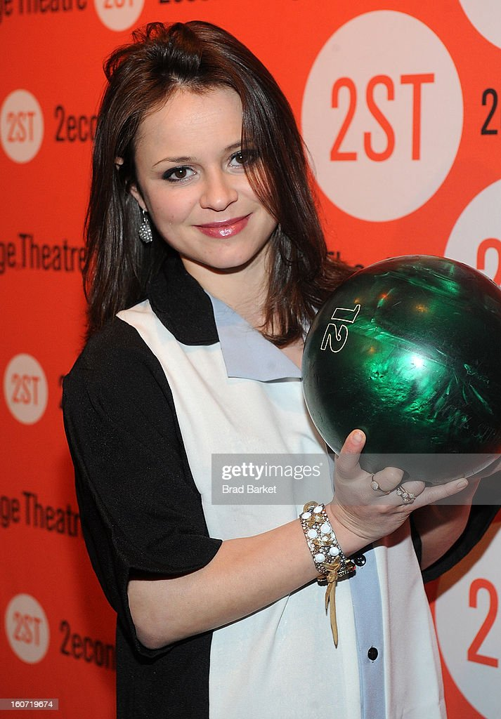 Actress <a gi-track='captionPersonalityLinkClicked' href=/galleries/search?phrase=Sasha+Cohen+-+Figure+Skater&family=editorial&specificpeople=171109 ng-click='$event.stopPropagation()'>Sasha Cohen</a> attends the Second Stage Theatre's 26th Annual All-Star Bowling Classic at Lucky Strike on February 04, 2013 in New York City.