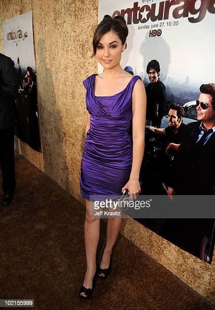 Actress Sasha Grey arrives at HBO's 'Entourage' Season 7 premiere held at Paramount Theater on the Paramount Studios lot on June 16 2010 in Hollywood...