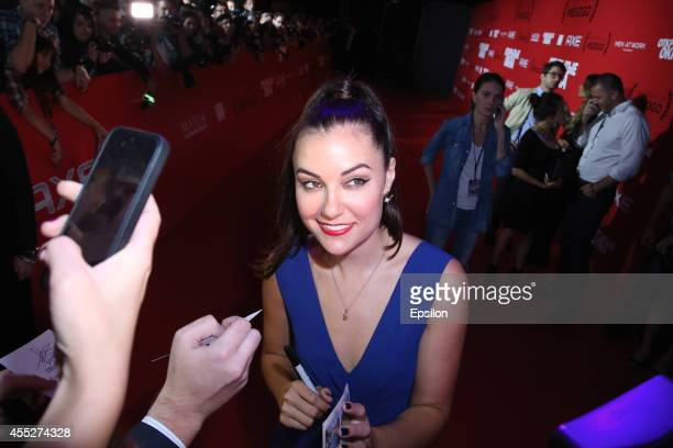 Actress Sasha Grey attends the 'Open Windows' premiere at GluvClub on September 11 2014 in Moscow Russia