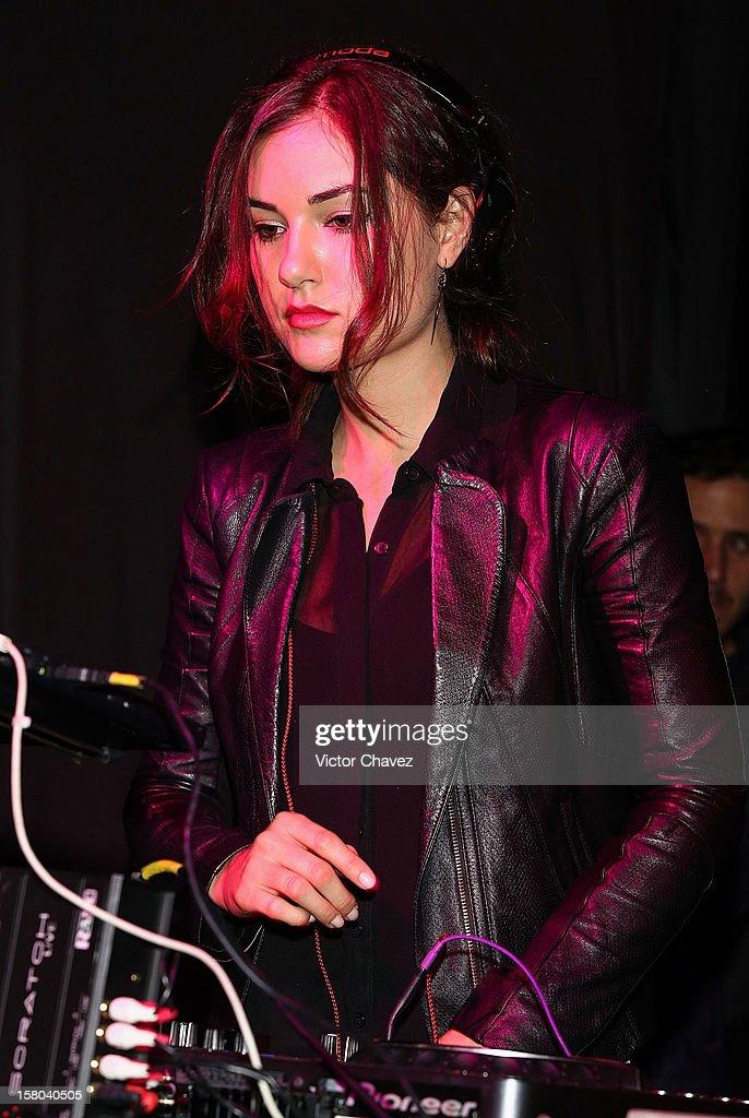 Actress Sasha Grey performs a DJ set at the Babiliona Show Center on December 9, 2012 in Mexico City, Mexico.