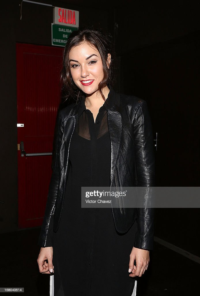 Actress <a gi-track='captionPersonalityLinkClicked' href=/galleries/search?phrase=Sasha+Grey&family=editorial&specificpeople=4453354 ng-click='$event.stopPropagation()'>Sasha Grey</a> poses backstage ahead of her DJ set at the Babiliona Show Center on December 9, 2012 in Mexico City, Mexico.