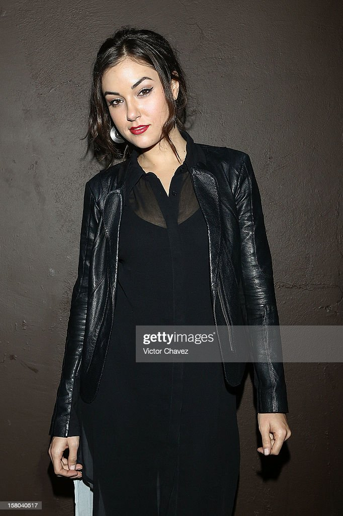 Actress Sasha Grey poses backstage ahead of her DJ set at the Babiliona Show Center on December 9, 2012 in Mexico City, Mexico.