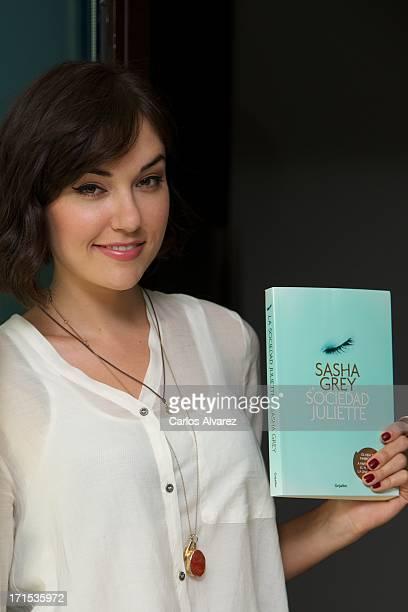 Actress Sasha Grey presents her book 'La Sociedad de Juliette' at the Hotel ME on June 26 2013 in Madrid Spain