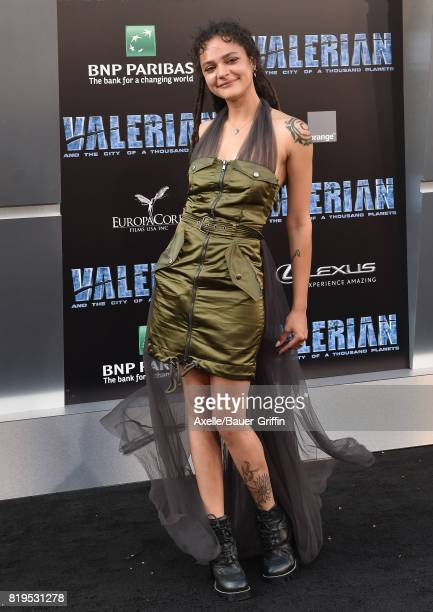 Actress Sasha Lane arrives at the Los Angeles premiere of 'Valerian and the City of a Thousand Planets' at TCL Chinese Theatre on July 17 2017 in...