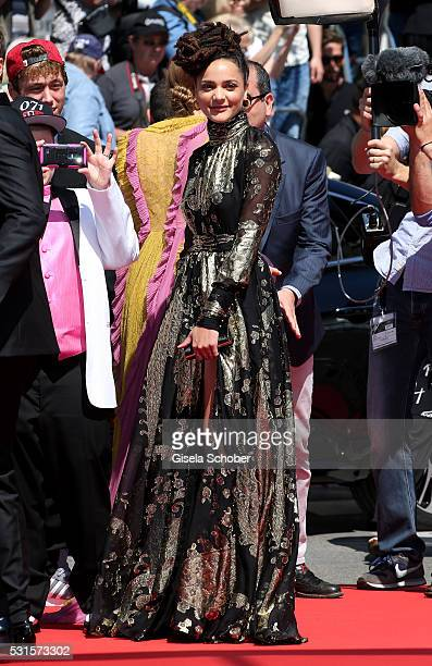 Actress Sasha Lane attends 'American Honey' Premiere during The 69th Annual Cannes Film Festival at the Palais des Festivals on May 15 2016 in Cannes...