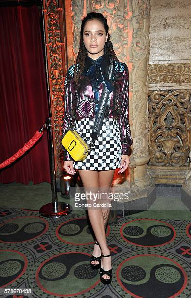 Actress Sasha Lane attends Marc Jacobs celebrates Divine Decadence on July 21 2016 in Los Angeles California