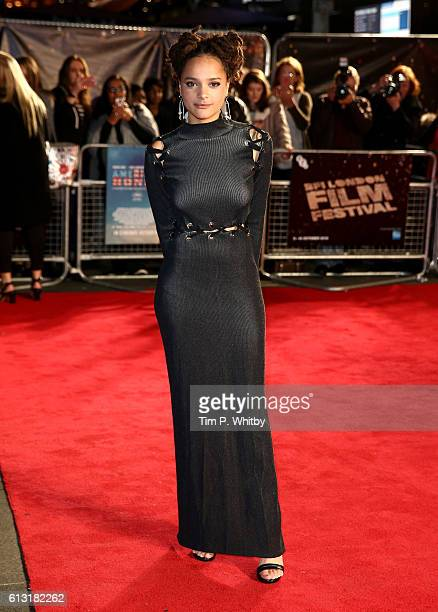 Actress Sasha Lane attends the 'American Honey' Festival Special Presentation screening during the 60th BFI London Film Festival at the Odeon...