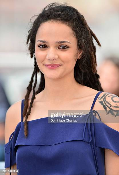 Actress Sasha Lane attends the 'American Honey' photocall during the 69th annual Cannes Film Festival at the Palais des Festivals on May 15 2016 in...