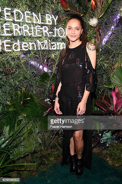 Actress Sasha Lane attends the L'Eden By PerrierJouet opening night in partnership with Vanity Fair at Casa Faena on November 29 2016 in Miami Beach...