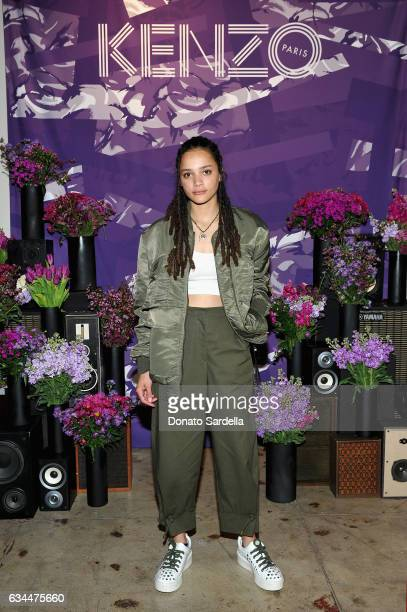 Actress Sasha Lane attends the Premiere of KENZO Presents 'Music Is My Mistress' a film by Kahlil Joseph at The Underground Museum on February 9 2017...
