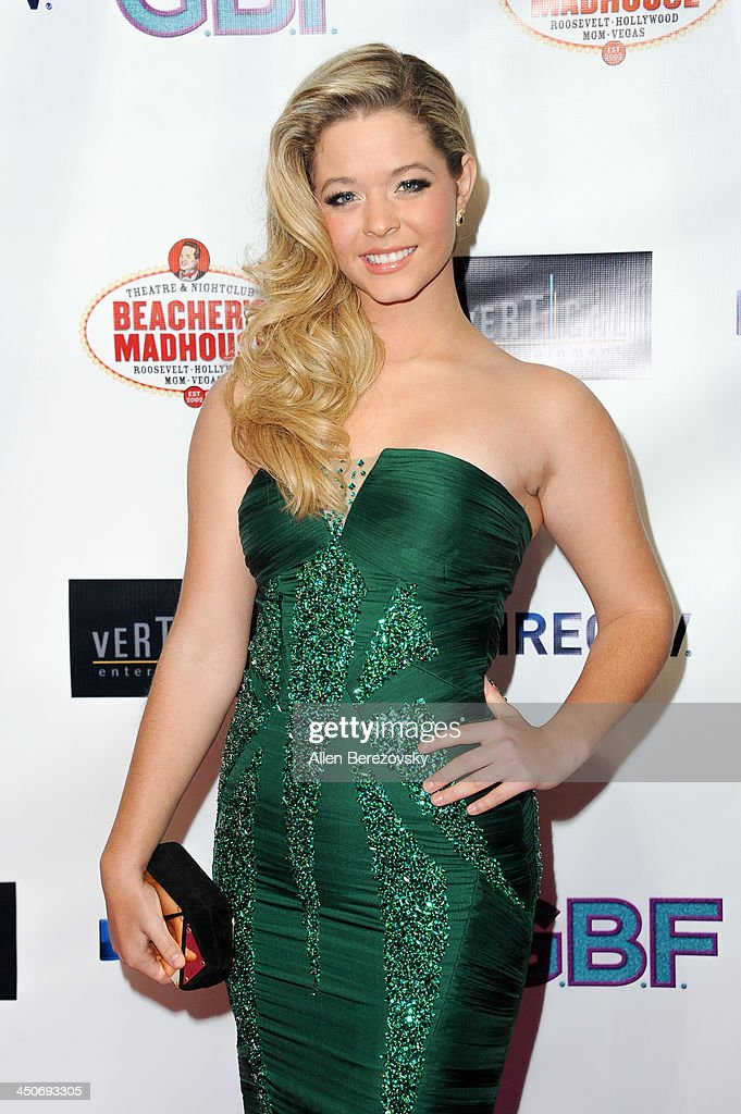 Actress Sasha Pieterse arrives at the Los Angeles premiere of 'G.B.F.' at Chinese 6 Theater in Hollywood on November 19, 2013 in Hollywood, California.