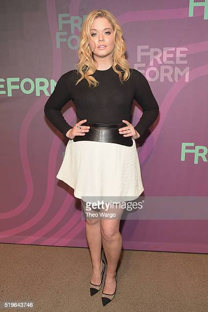 Actress Sasha Pieterse attends 2016 ABC Freeform Upfront at Spring Studios on April 7 2016 in New York City