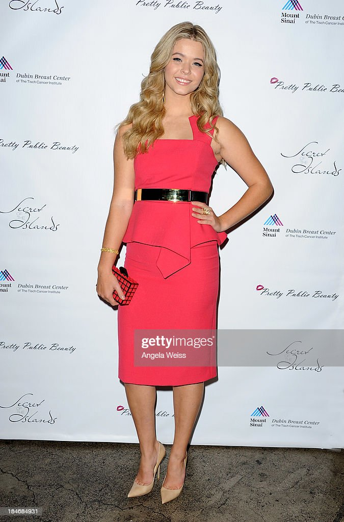 Actress <a gi-track='captionPersonalityLinkClicked' href=/galleries/search?phrase=Sasha+Pieterse&family=editorial&specificpeople=2237740 ng-click='$event.stopPropagation()'>Sasha Pieterse</a> attends Pretty Pink Beauty Night in Recognition of Breast Cancer Awareness Month at Tiato on October 14, 2013 in Santa Monica, California.