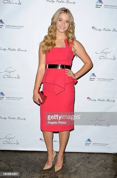 Actress Sasha Pieterse attends Pretty Pink Beauty Night in Recognition of Breast Cancer Awareness Month at Tiato on October 14 2013 in Santa Monica...