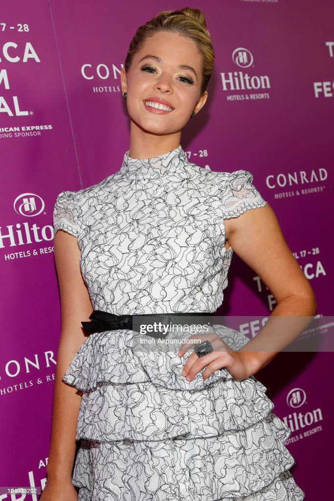 Actress Sasha Pieterse attends the 2013 Tribeca Film Festival LA Reception at The Beverly Hilton Hotel on March 18, 2013 in Beverly Hills, California.