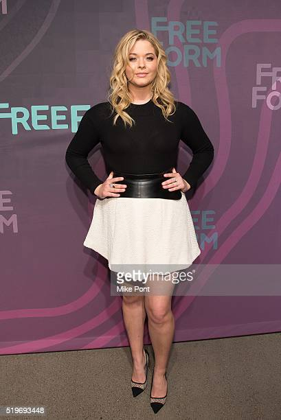 Actress Sasha Pieterse attends the 2016 Freeform Upfront at Spring Studios on April 7 2016 in New York City