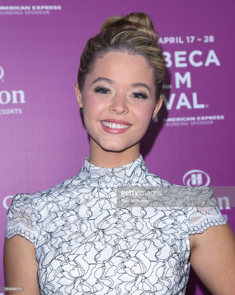Actress <a gi-track='captionPersonalityLinkClicked' href=/galleries/search?phrase=Sasha+Pieterse&family=editorial&specificpeople=2237740 ng-click='$event.stopPropagation()'>Sasha Pieterse</a> attends the 5th annual Tribeca Film Festival 2013 LA reception at The Beverly Hilton Hotel on March 18, 2013 in Beverly Hills, California.