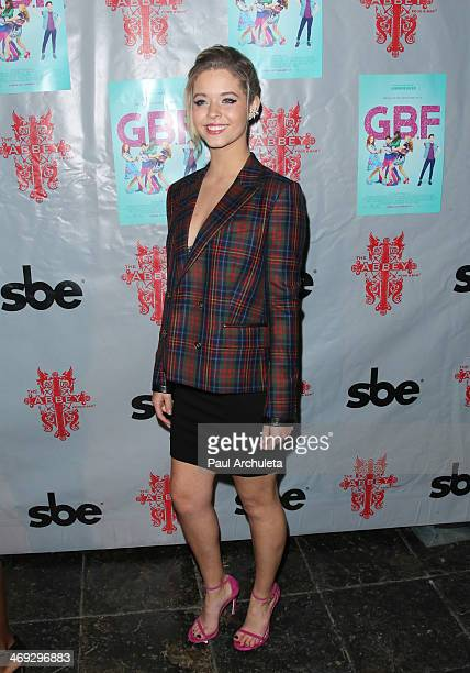 Actress Sasha Pieterse attends the DVD release party for 'GBF' at The Abbey on February 13 2014 in West Hollywood California