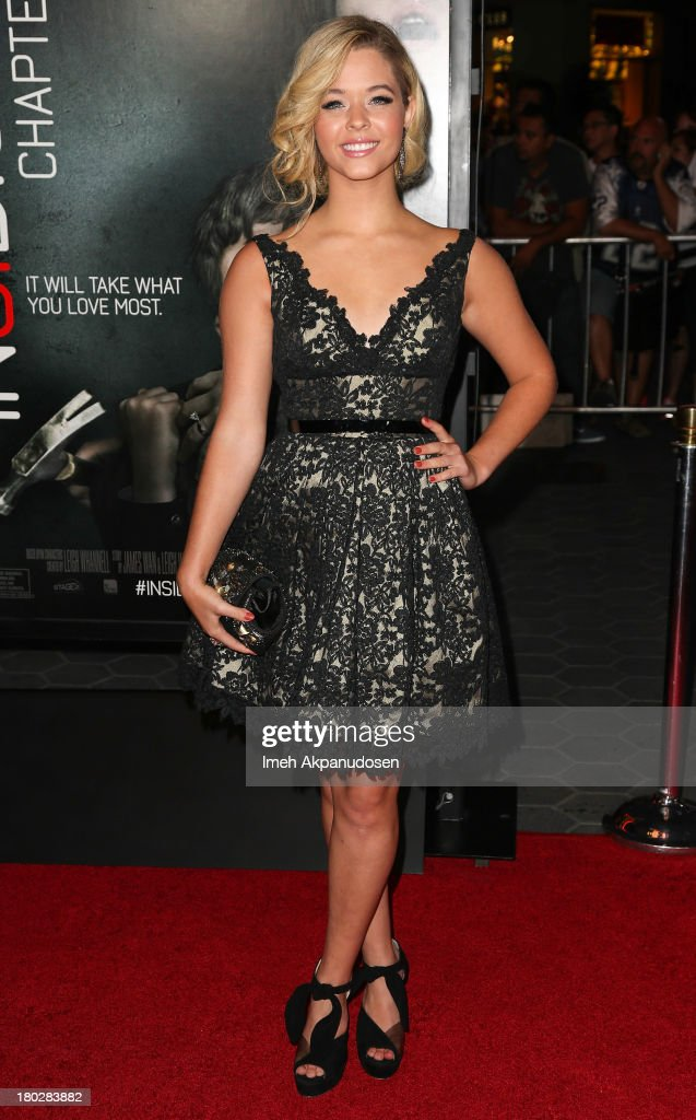 Actress <a gi-track='captionPersonalityLinkClicked' href=/galleries/search?phrase=Sasha+Pieterse&family=editorial&specificpeople=2237740 ng-click='$event.stopPropagation()'>Sasha Pieterse</a> attends the premiere of FilmDistrict's 'Insidious: Chapter 2' on September 10, 2013 in Universal City, California.