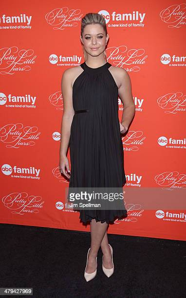 Actress Sasha Pieterse attends the 'Pretty Little Liars' season finale screening at Ziegfeld Theater on March 18 2014 in New York City