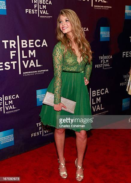Actress Sasha Pieterse attends the screening of 'GBF' during the 2013 Tribeca Film Festival at Chelsea Clearview Cinemas on April 19 2013 in New York...