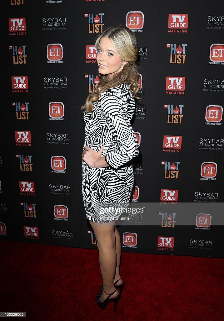 Actress Sasha Pieterse attends the TV Guide Magazine Hot List Party at SkyBar at the Mondrian Los Angeles on November 12, 2012 in West Hollywood, California.