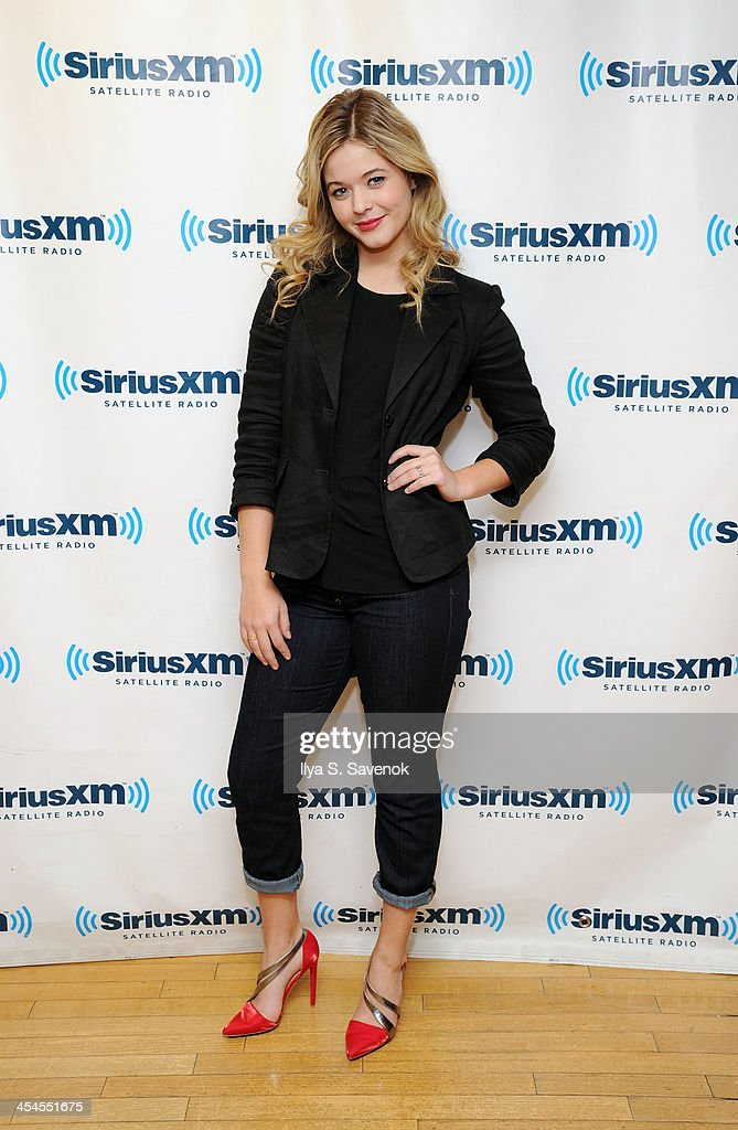 Actress Sasha Pieterse visits the SiriusXM Studios on December 9, 2013 in New York City.