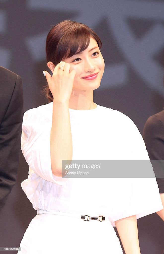 Actress Satomi Ishihara attends bTV program press conference on April 2, 2015 in Tokyo, Japan.