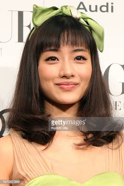 Actress Satomi Ishihara attends the 'Vogue Nippon Women of the Year 2010' award ceremony at Grand Hyatt Tokyo on November 22 2010 in Tokyo Japan