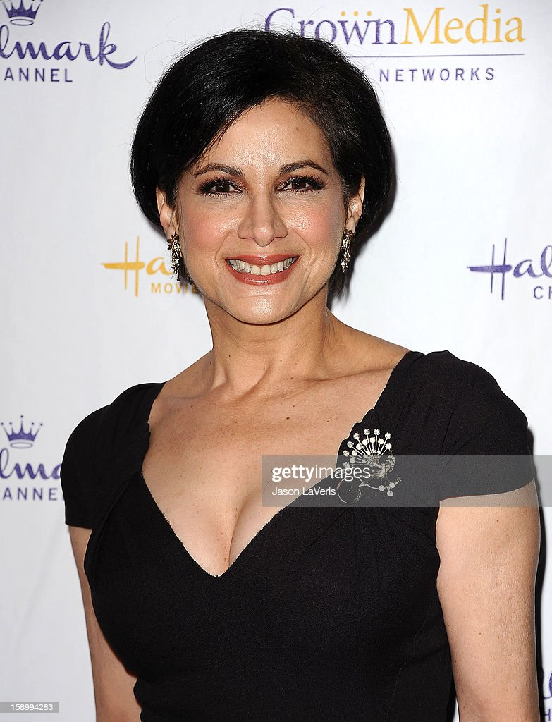 Actress Saundra Santiago attends the Hallmark Channel 2013 winter press gala at Huntington Library on January 4, 2013 in Pasadena, California.