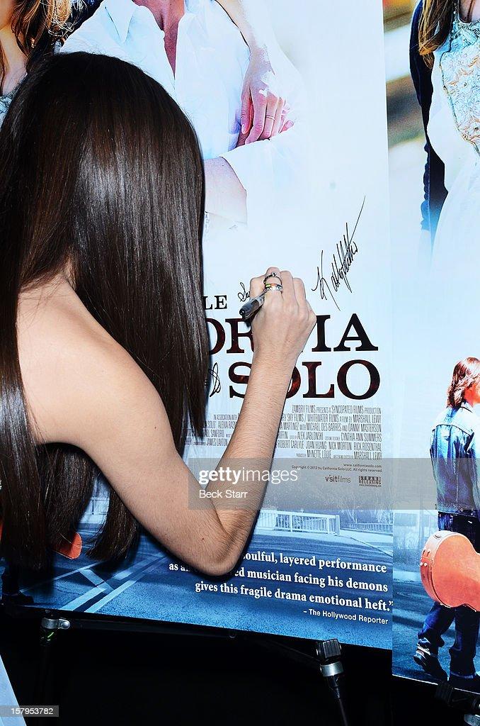 Actress Savannah Lathem arrives at 'California Solo' Los Angeles premiere at Nuart Theatre on December 7, 2012 in West Los Angeles, California.