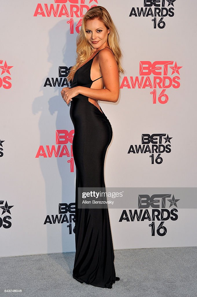 Actress Savannah Lynx of 'F In Fabulous' poses for pictures in the press room during the 2016 BET Awards at Microsoft Theater on June 26, 2016 in Los Angeles, California.