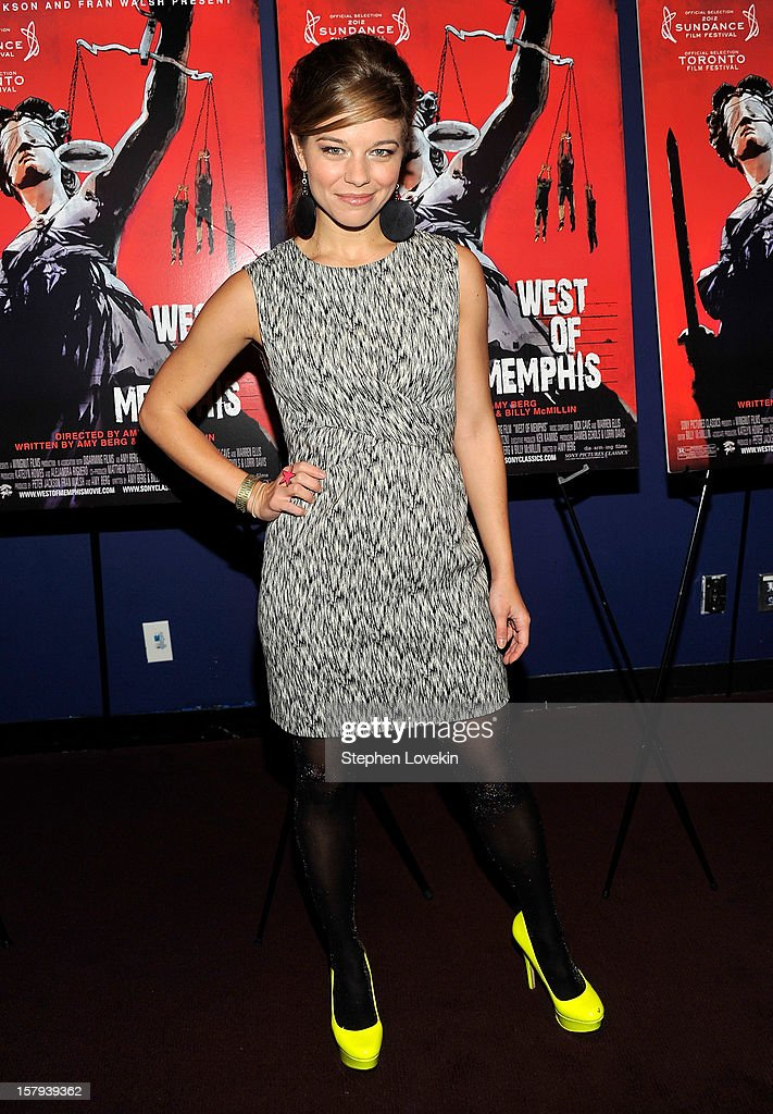 Actress Savannah Wise attends the New York premiere of 'West Of Memphis' at Florence Gould Hall on December 7, 2012 in New York City.