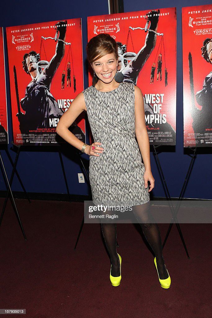 Actress Savannah Wise attends the 'West Of Memphis' premiere at Florence Gould Hall on December 7, 2012 in New York City.