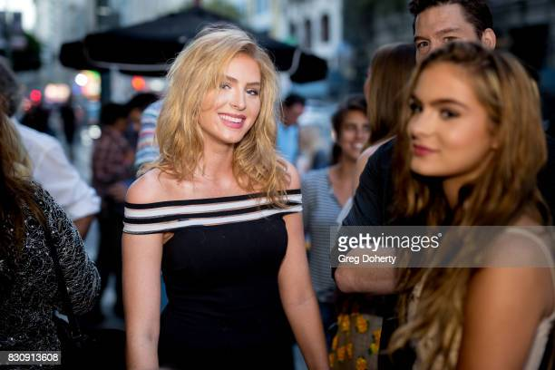 Actress Saxon Sharbino and Brighton Sharbino arrive for the 2017 Sundance NEXT FEST at The Theater at The Ace Hotel on August 12 2017 in Los Angeles...