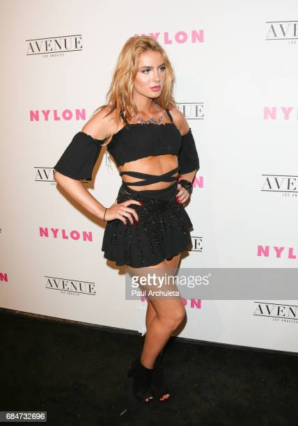 Actress Saxon Sharbino attends NYLON's annual Young Hollywood May issue event with cover Star Rowan Blanchard at Avenue on May 2 2017 in Los Angeles...