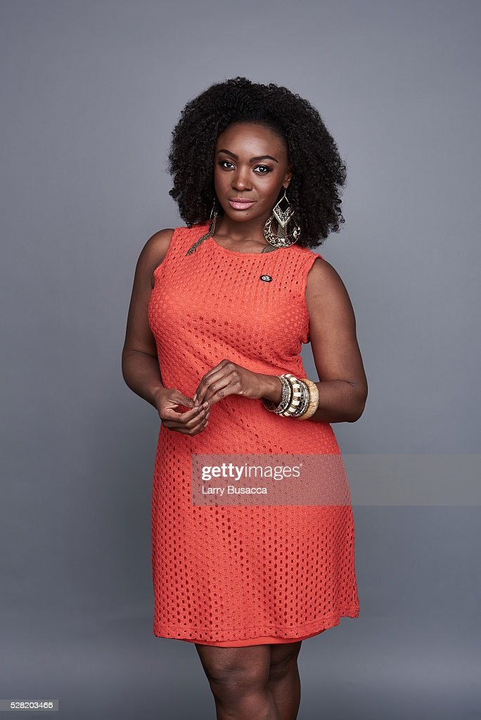Actress <a gi-track='captionPersonalityLinkClicked' href=/galleries/search?phrase=Saycon+Sengbloh&family=editorial&specificpeople=2235783 ng-click='$event.stopPropagation()'>Saycon Sengbloh</a> poses for a portrait at the 2016 Tony Awards Meet The Nominees Press Reception on May 4, 2016 in New York City.