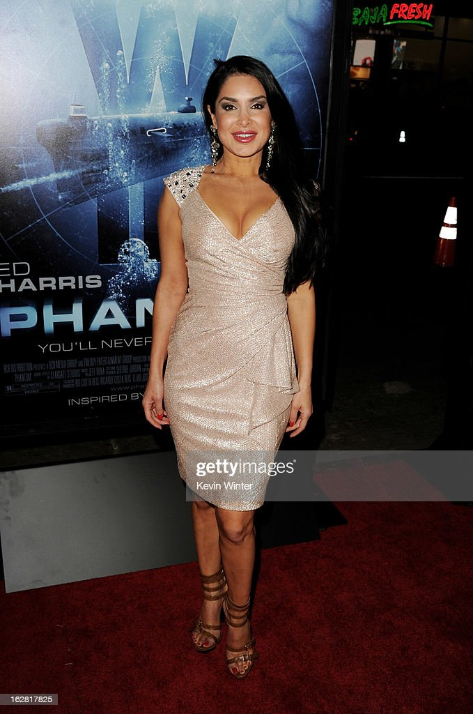 Actress Saye Yabandeh arrives at the premiere of 'Phantom' at the Chinese Theater on February 27, 2013 in Los Angeles, California.