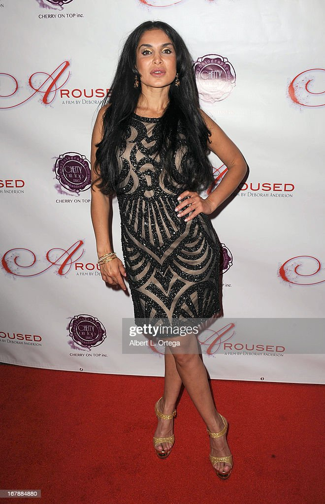 Actress Saye Yabandeh arrives for the Premiere Of 'Aroused' held at Landmark Nuart Theatre on May 1, 2013 in Los Angeles, California.