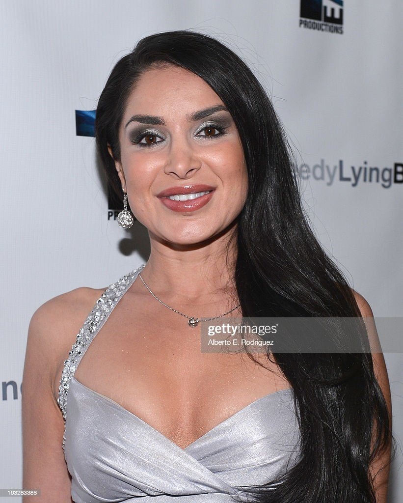 Actress Saye Yabandeh attend a screening of 1 Earth Productions' 'Greedy Lying Bastards' at Harmony Gold Theatre on March 6, 2013 in Los Angeles, California.