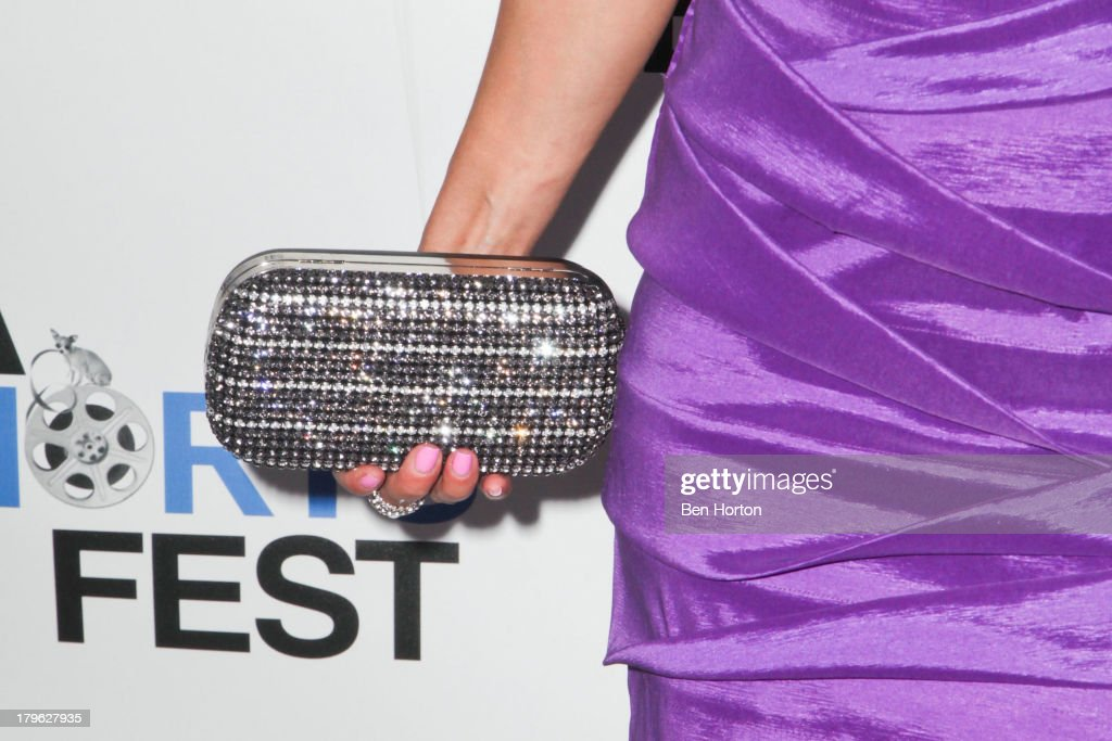 Actress Saye Yabandeh (purse detail) attends the opening night of the 2013 Los Angeles International Short Film Festival at Laemmle NoHo 7 on September 5, 2013 in North Hollywood, California.